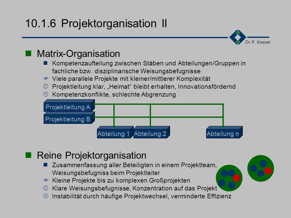 10.1.6 Projektorganisation II