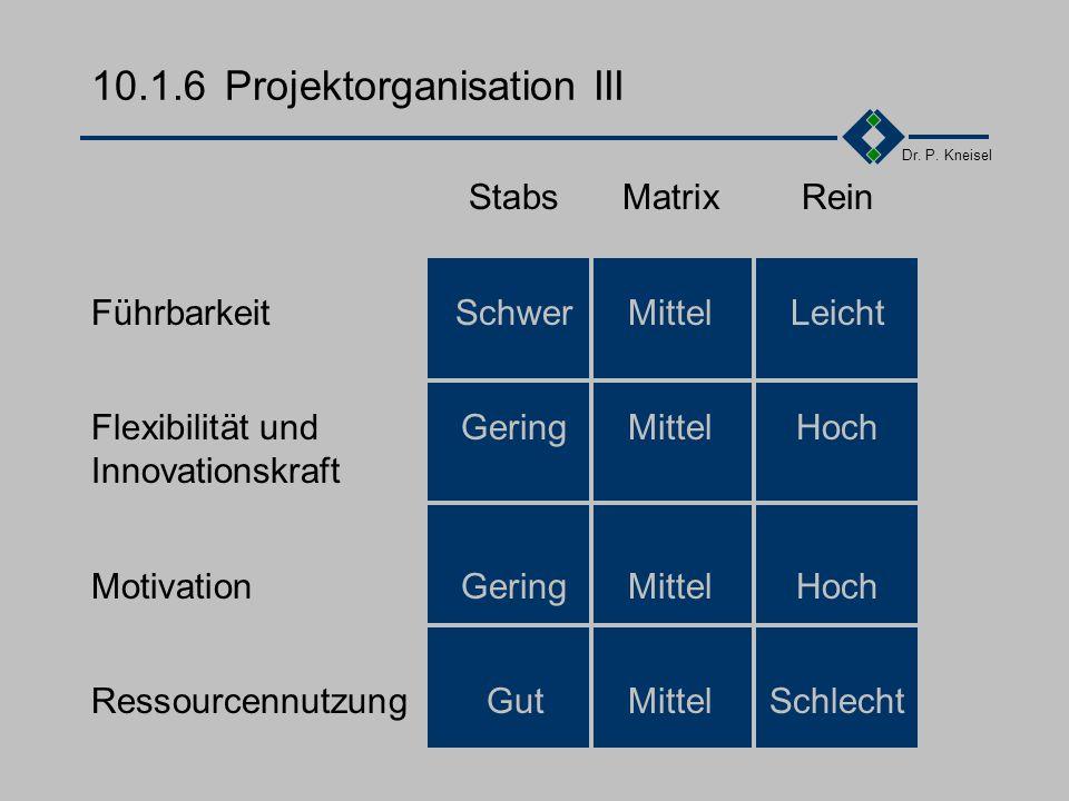 10.1.6 Projektorganisation III