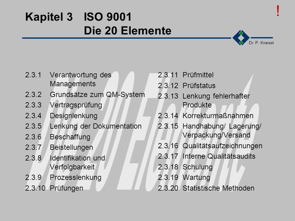 Kapitel 3 ISO 9001 Die 20 Elemente