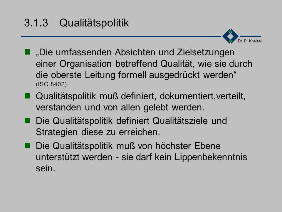 3.1.3 Qualitätspolitik