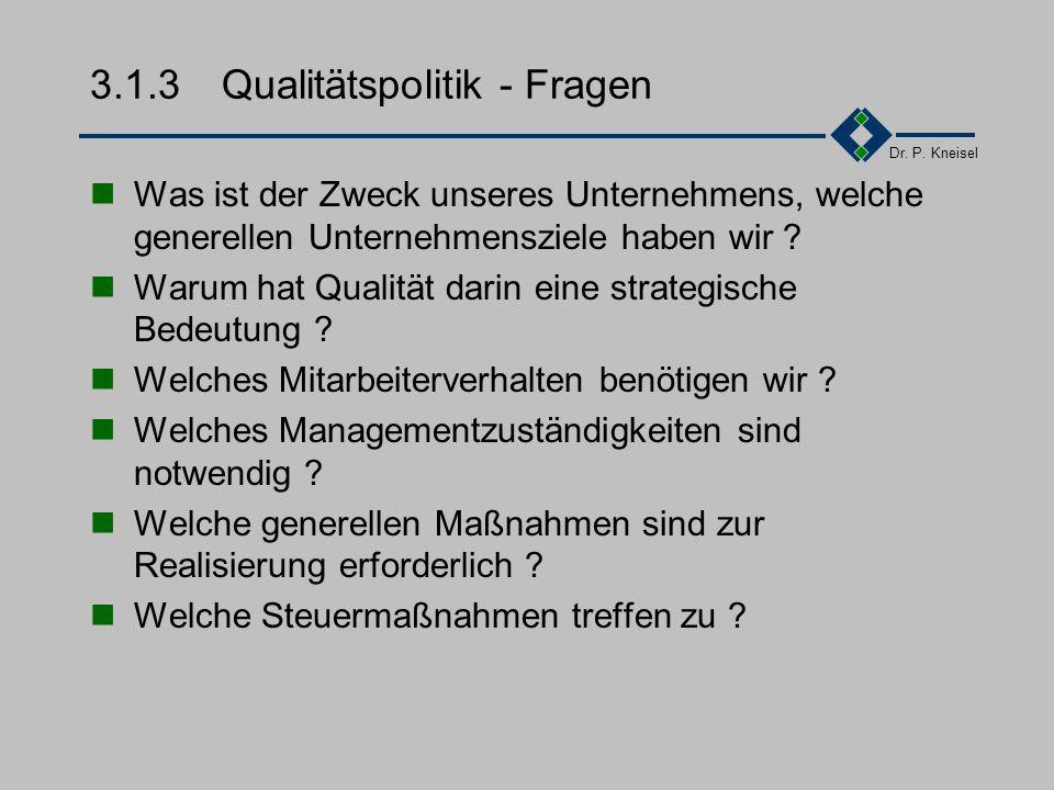 3.1.3 Qualitätspolitik - Fragen