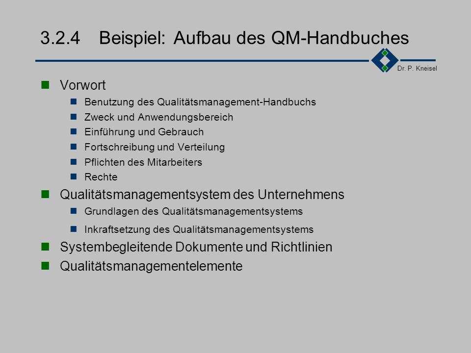 3.2.4 Beispiel: Aufbau des QM-Handbuches