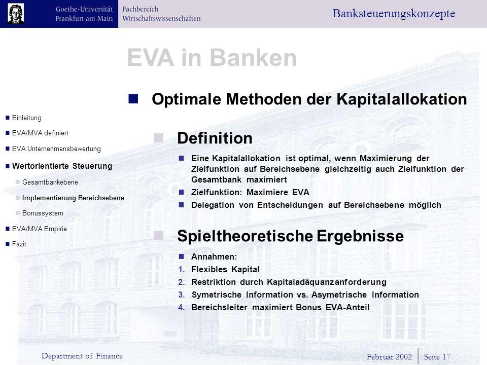 Optimale Methoden der Kapitalallokation Definition