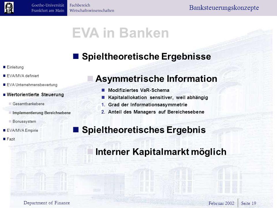 Spieltheoretische Ergebnisse Asymmetrische Information