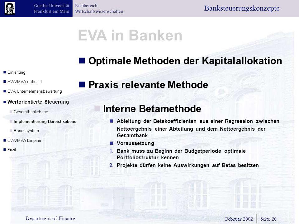 Optimale Methoden der Kapitalallokation Praxis relevante Methode
