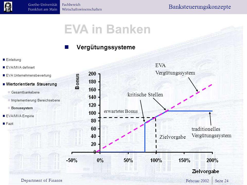 Vergütungssysteme EVA Vergütungssystem kritische Stellen