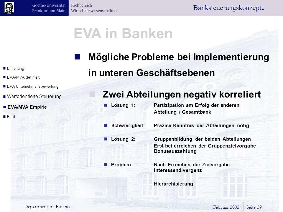 Mögliche Probleme bei Implementierung in unteren Geschäftsebenen