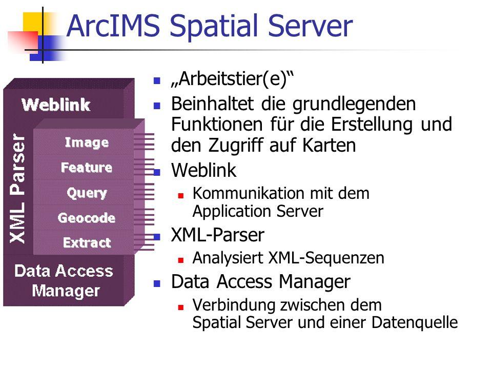 """ArcIMS Spatial Server """"Arbeitstier(e)"""