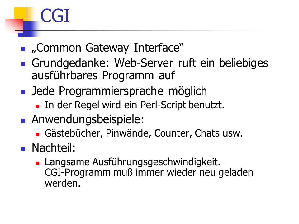 "CGI ""Common Gateway Interface"