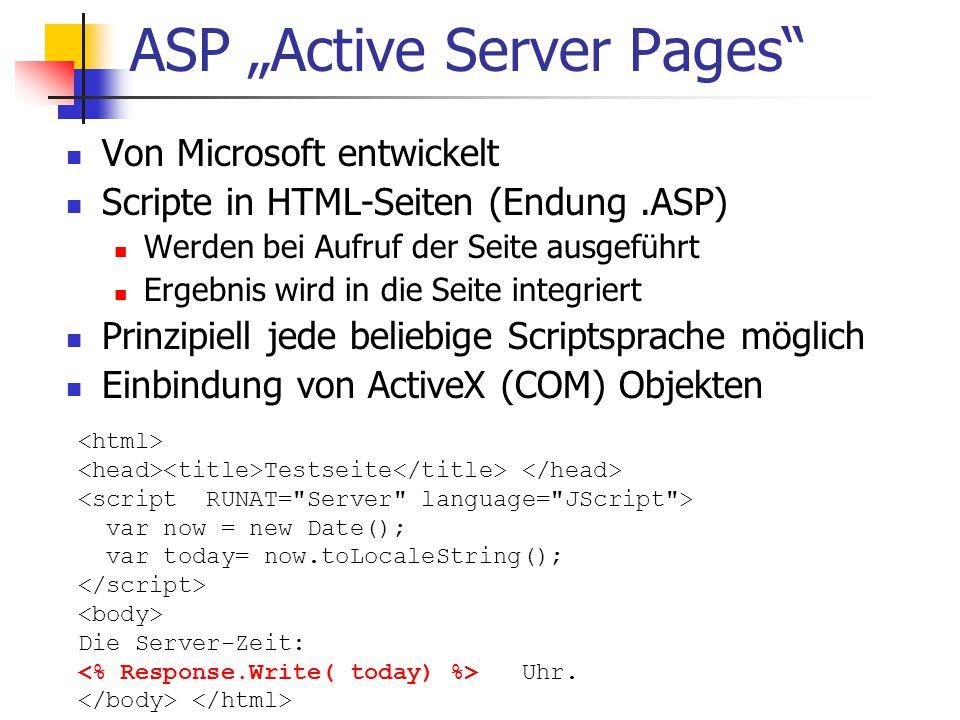 """ASP """"Active Server Pages"""