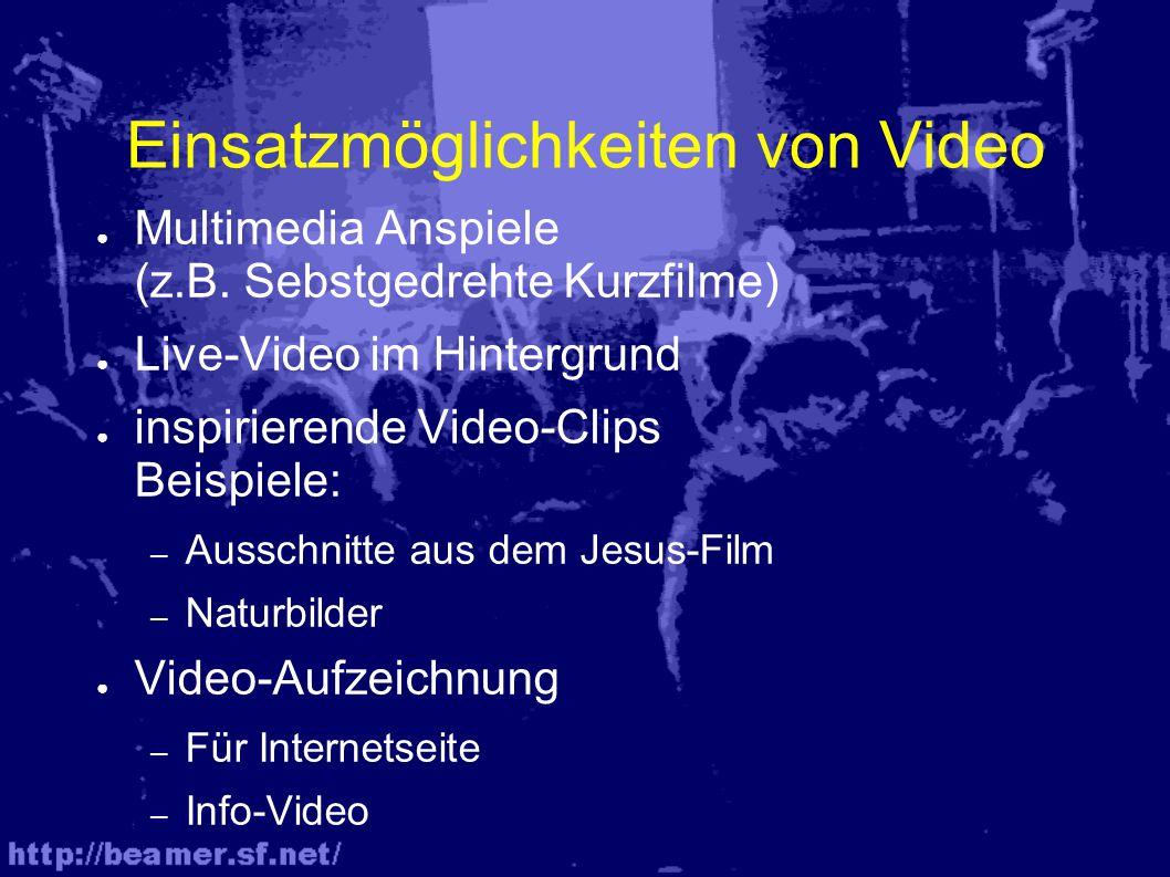 Einsatzmöglichkeiten von Video