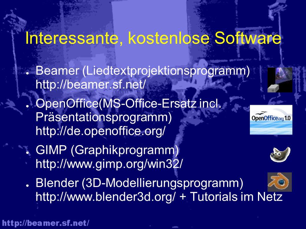 Interessante, kostenlose Software