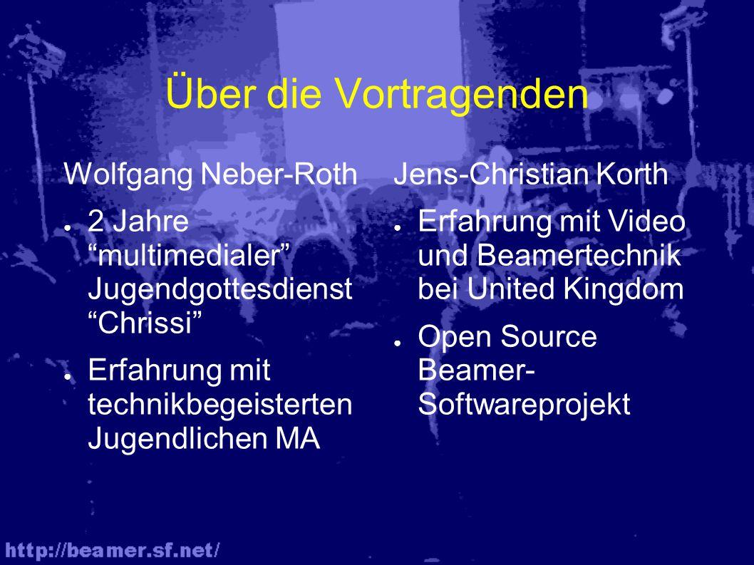 Über die Vortragenden Wolfgang Neber-Roth