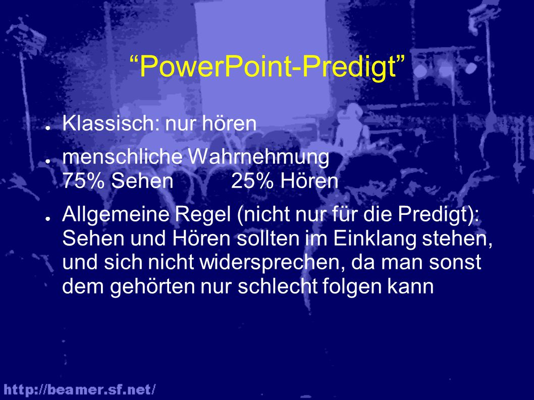 PowerPoint-Predigt