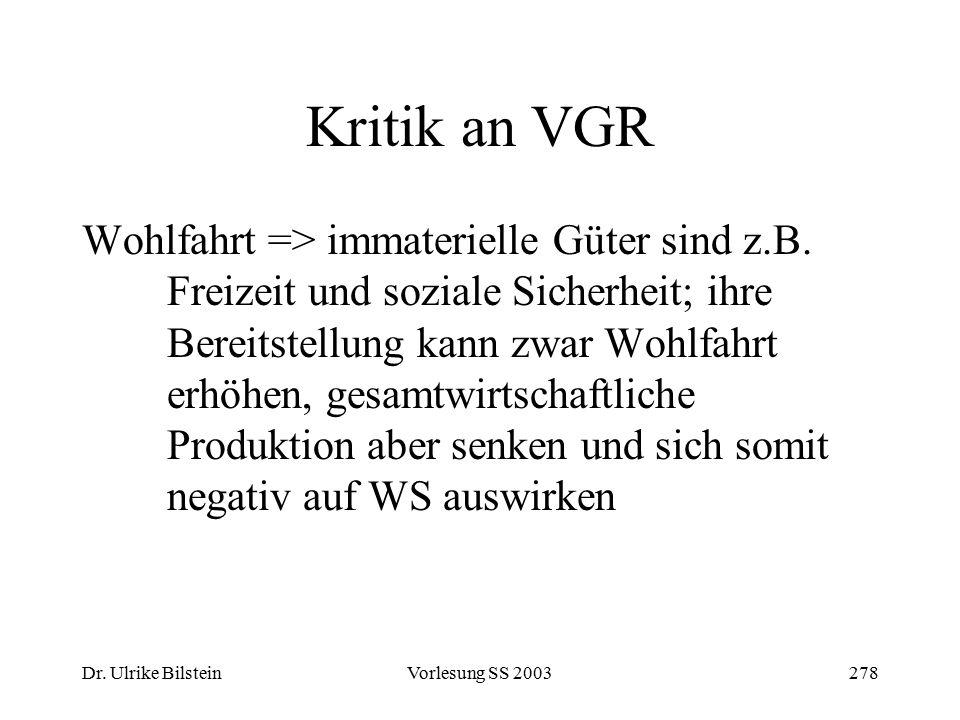 Kritik an VGR