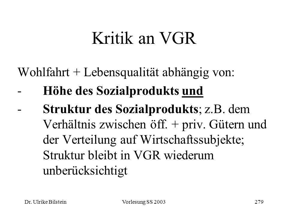 Kritik an VGR Wohlfahrt + Lebensqualität abhängig von: