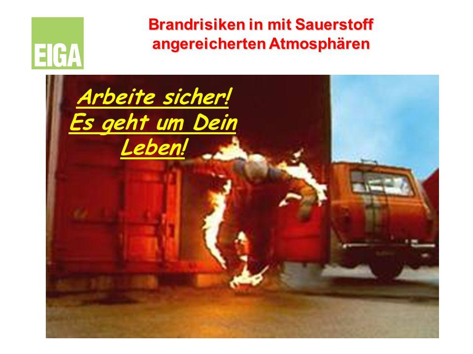 Brandrisiken in mit Sauerstoff angereicherten Atmosphären