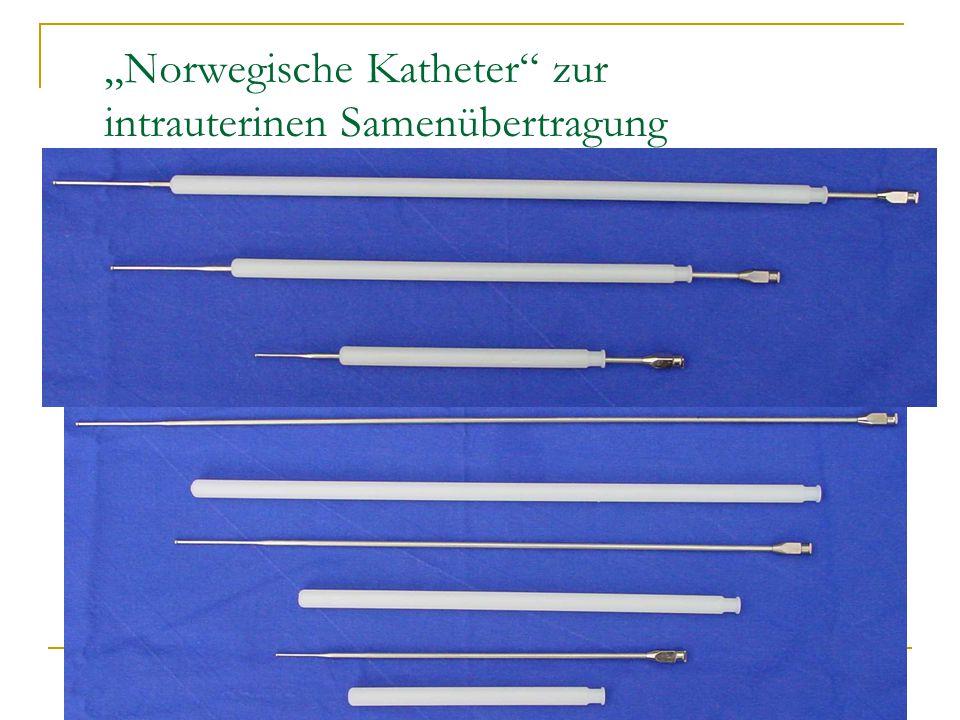 """Norwegische Katheter zur intrauterinen Samenübertragung"
