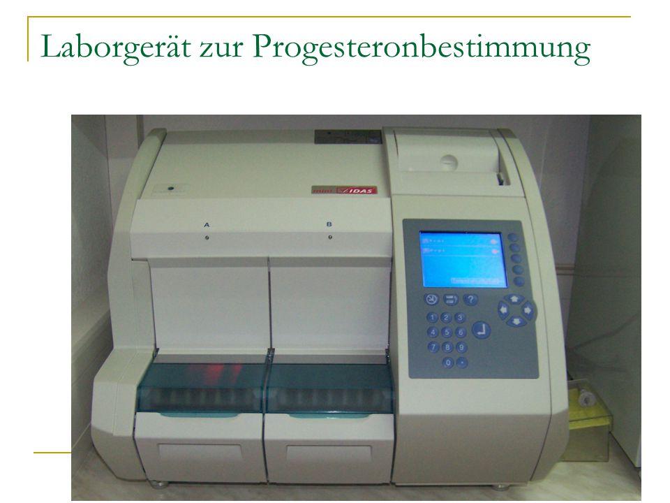 Laborgerät zur Progesteronbestimmung