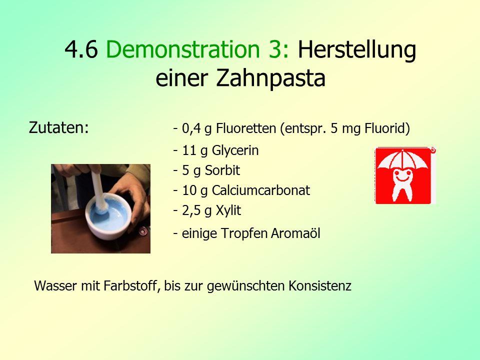 4.6 Demonstration 3: Herstellung einer Zahnpasta