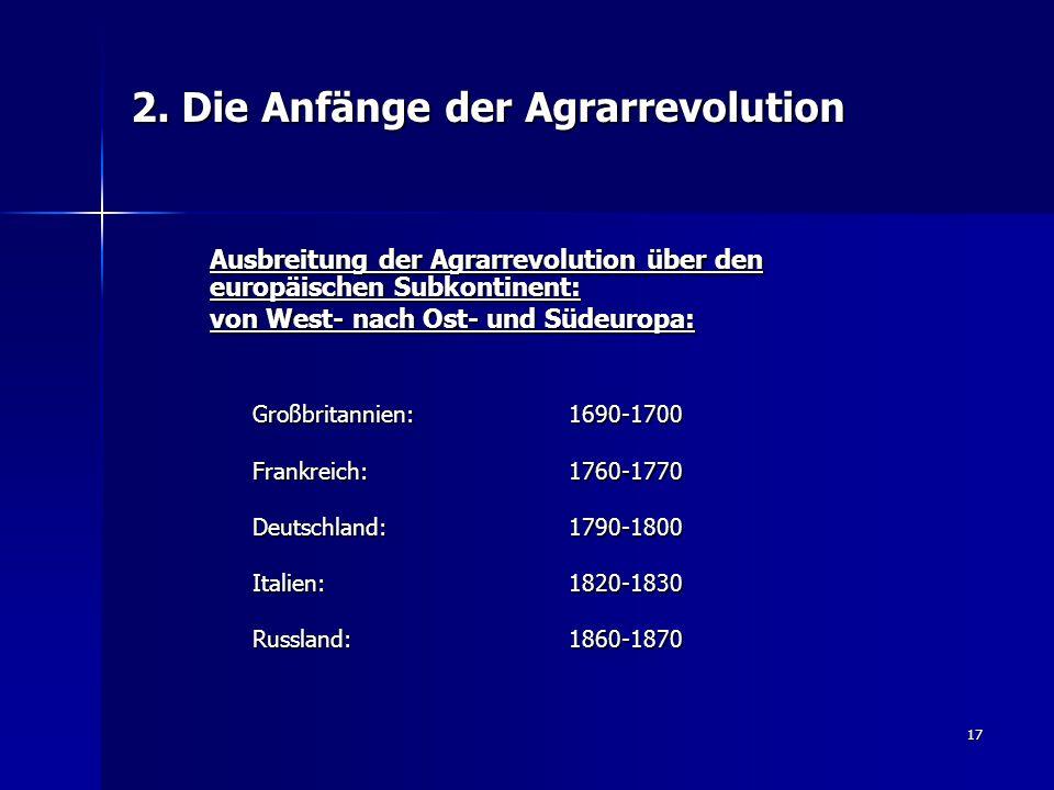 2. Die Anfänge der Agrarrevolution