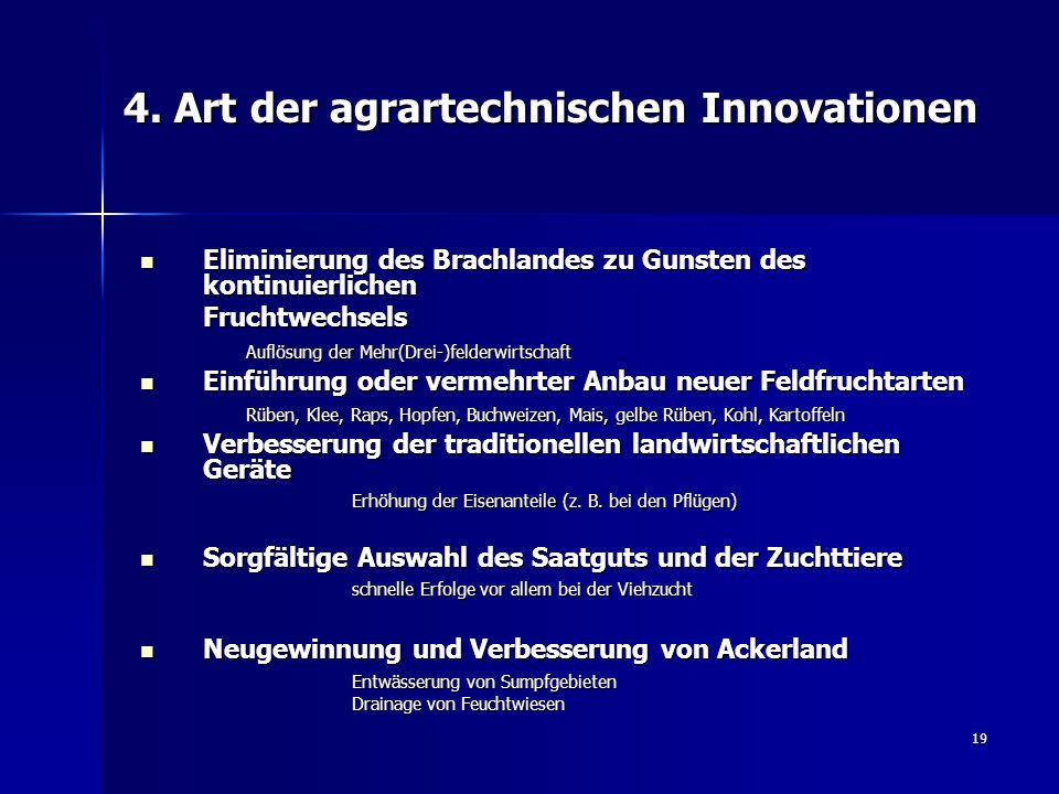 4. Art der agrartechnischen Innovationen