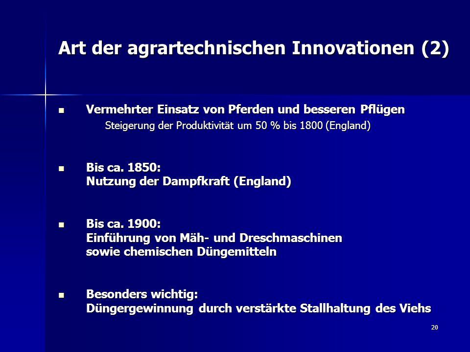 Art der agrartechnischen Innovationen (2)