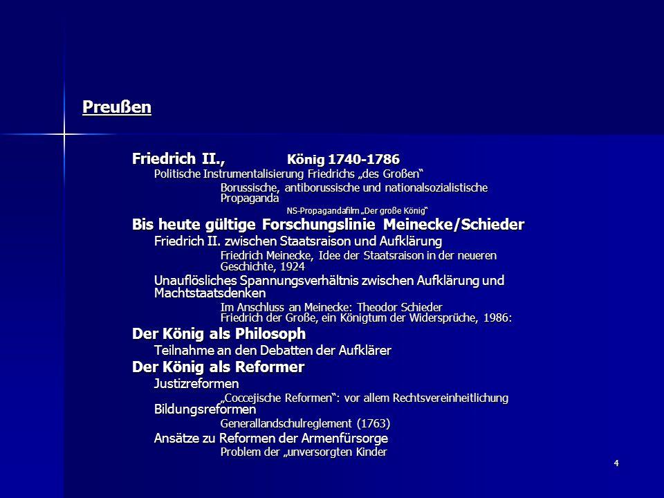Preußen Friedrich II., König 1740-1786