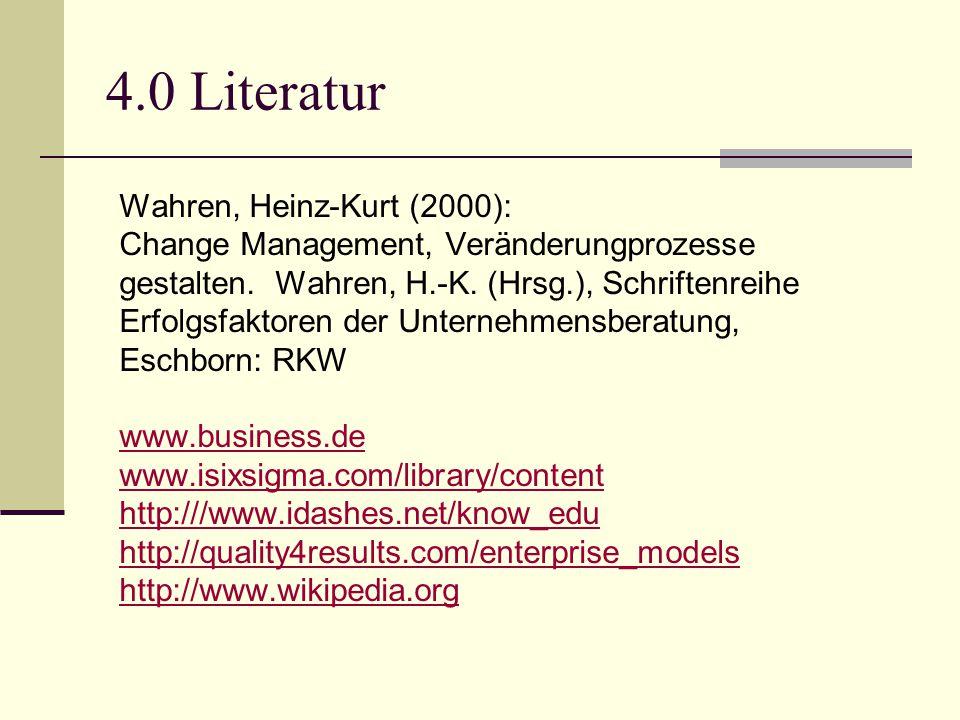 4.0 Literatur Wahren, Heinz-Kurt (2000):