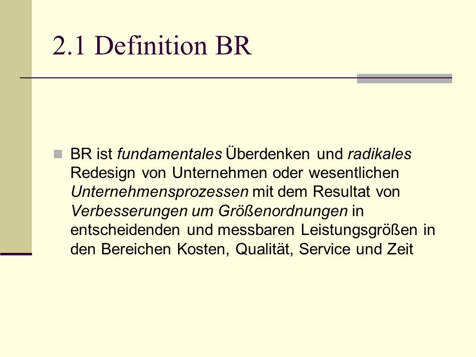 2.1 Definition BR