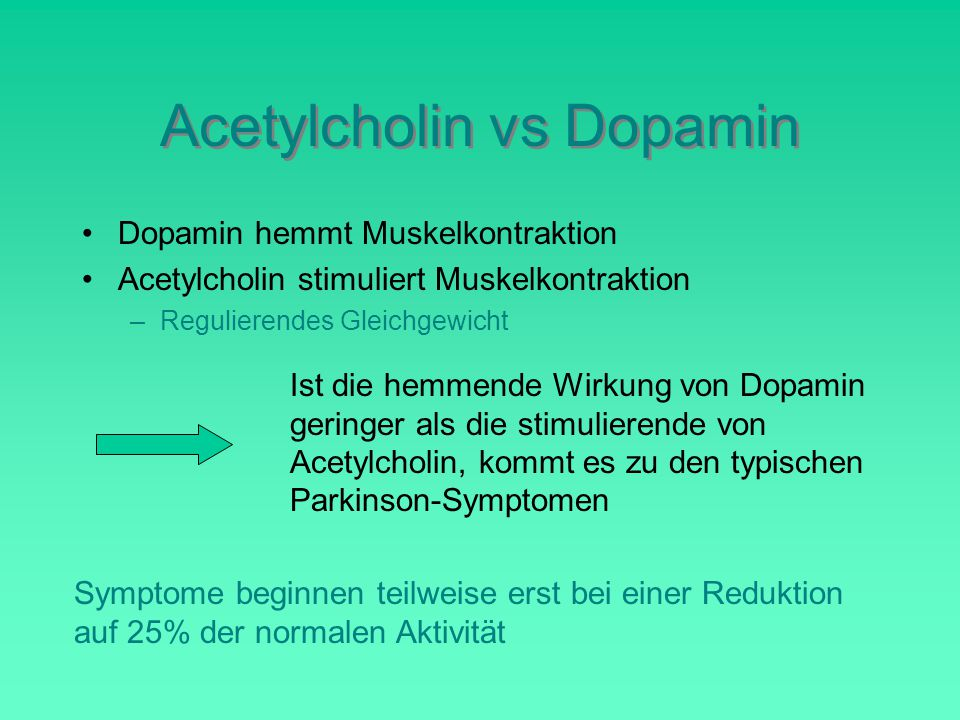 Acetylcholin vs Dopamin