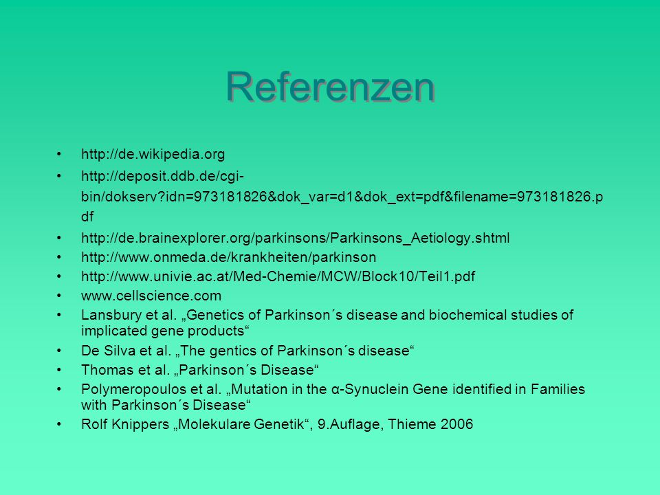 Referenzen http://de.wikipedia.org