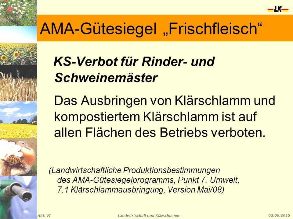"""AMA-Gütesiegel """"Frischfleisch"""