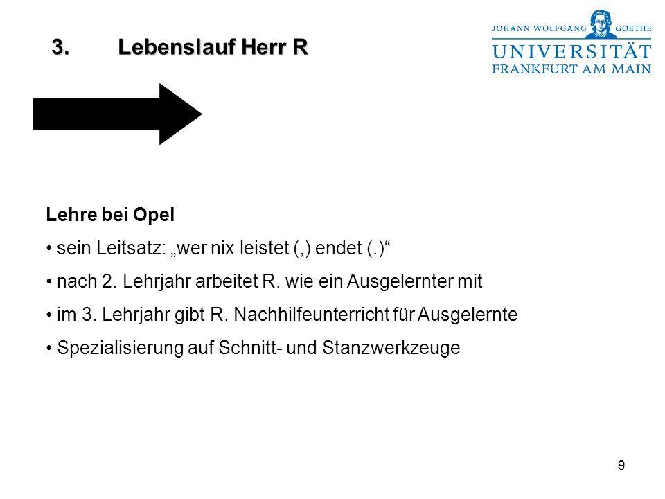 3. Lebenslauf Herr R Lehre bei Opel