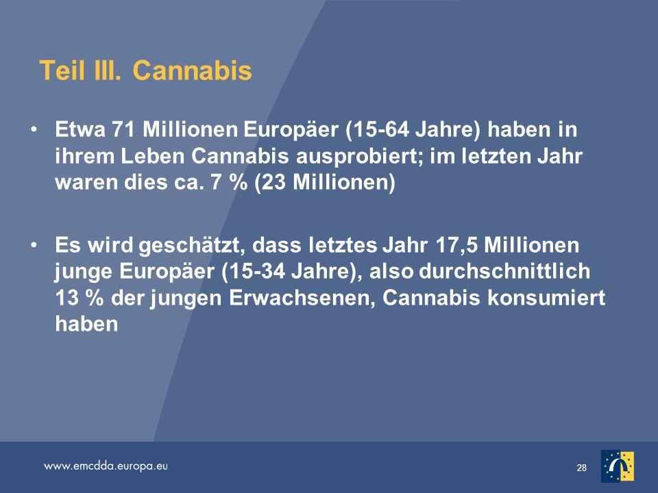 Teil III. Cannabis