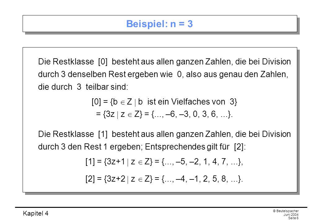 Beispiel: n = 3
