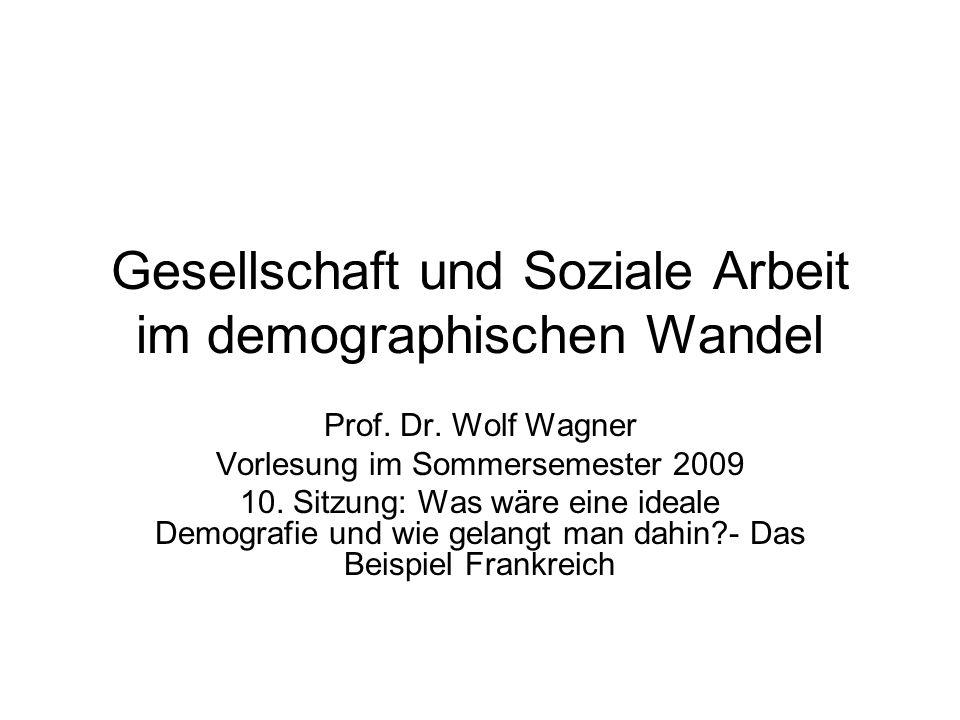 Gesellschaft und Soziale Arbeit im demographischen Wandel