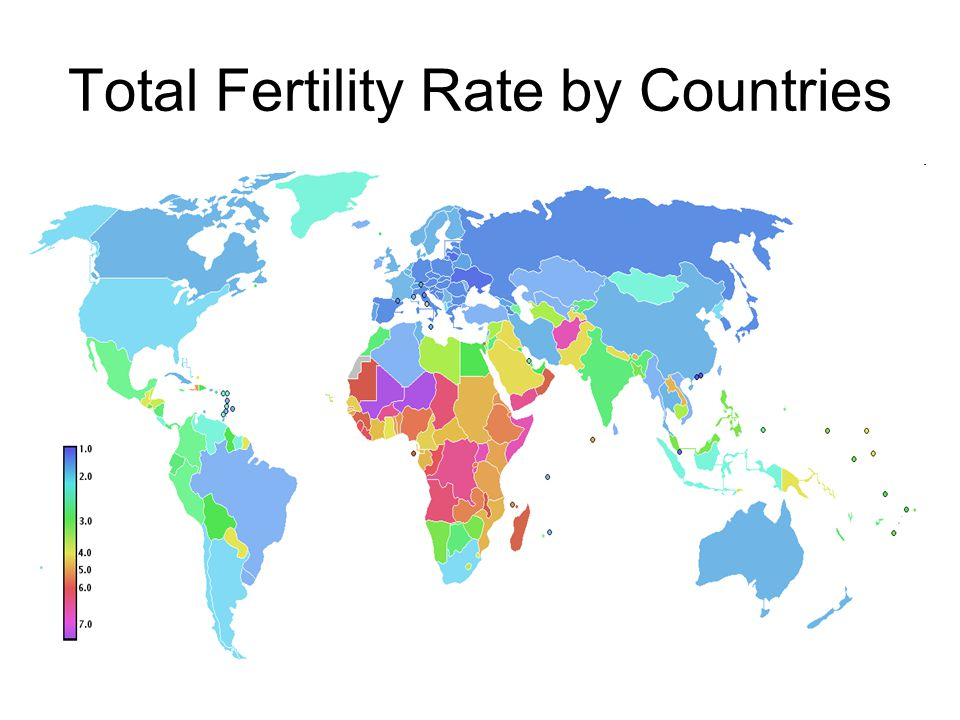 Total Fertility Rate by Countries
