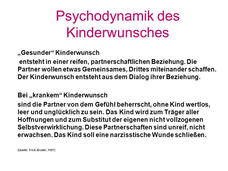 Psychodynamik des Kinderwunsches