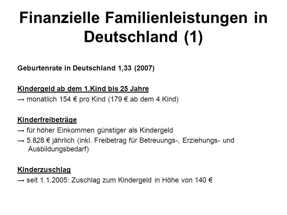 Finanzielle Familienleistungen in Deutschland (1)