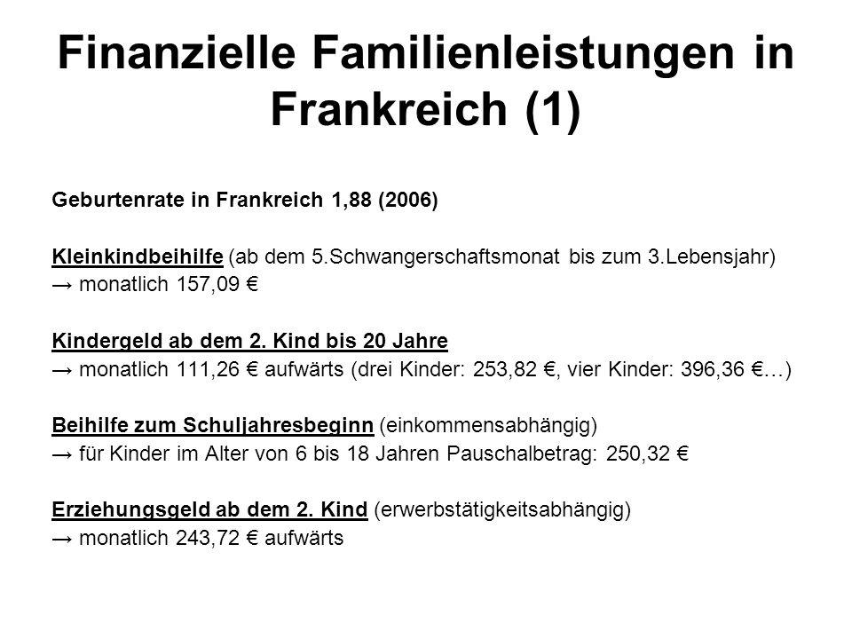 Finanzielle Familienleistungen in Frankreich (1)