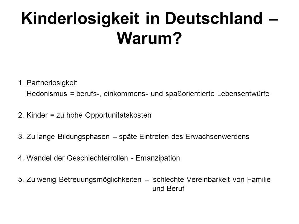Kinderlosigkeit in Deutschland – Warum