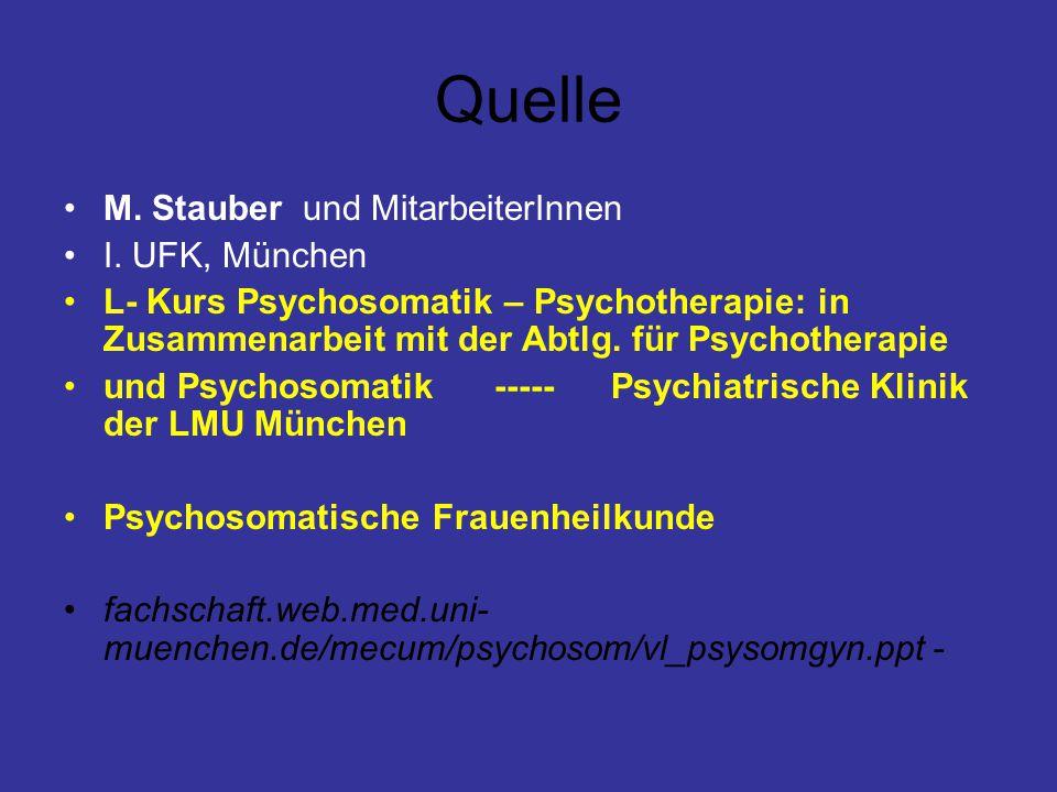 Quelle M. Stauber und MitarbeiterInnen I. UFK, München