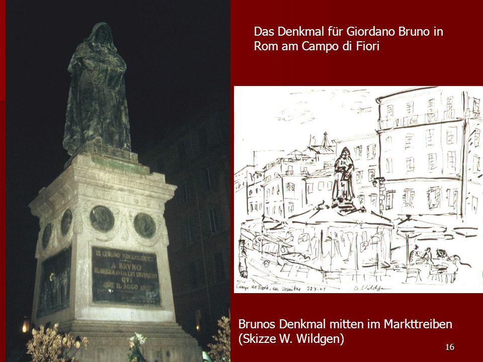 Das Denkmal für Giordano Bruno in Rom am Campo di Fiori