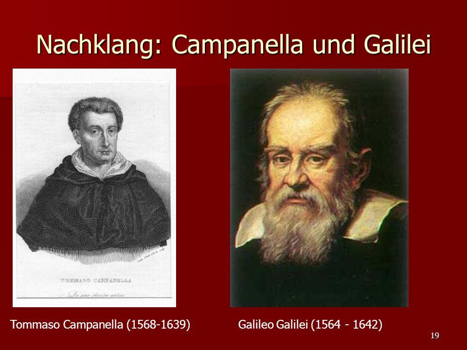Nachklang: Campanella und Galilei
