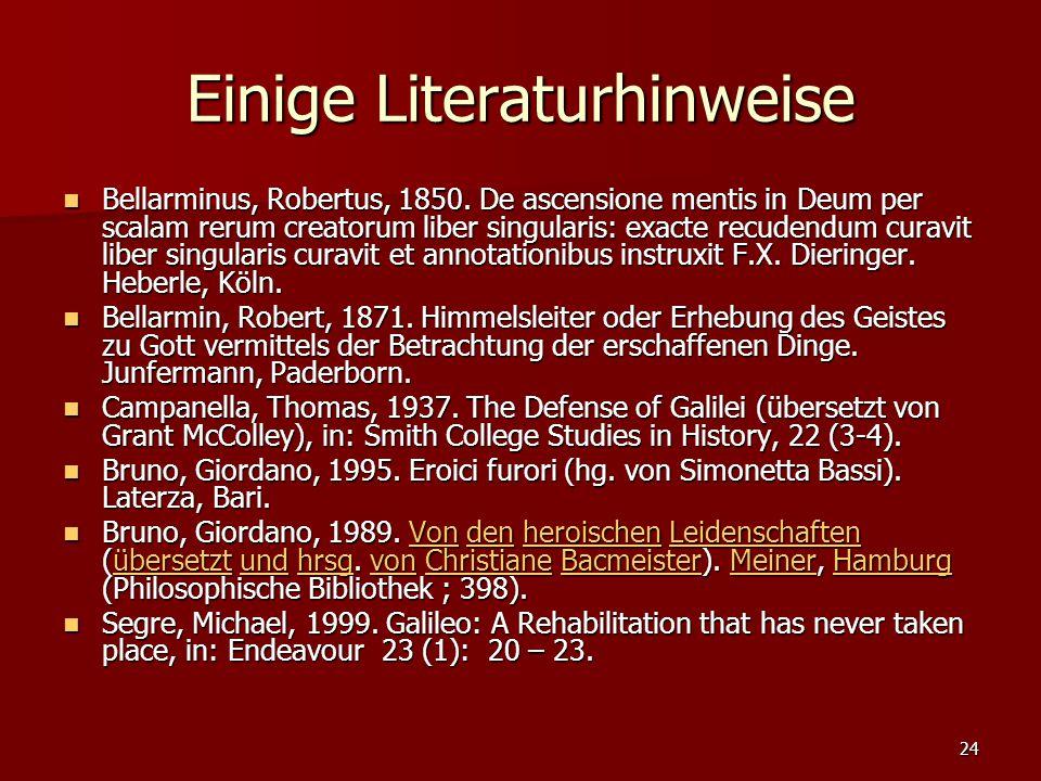 Einige Literaturhinweise