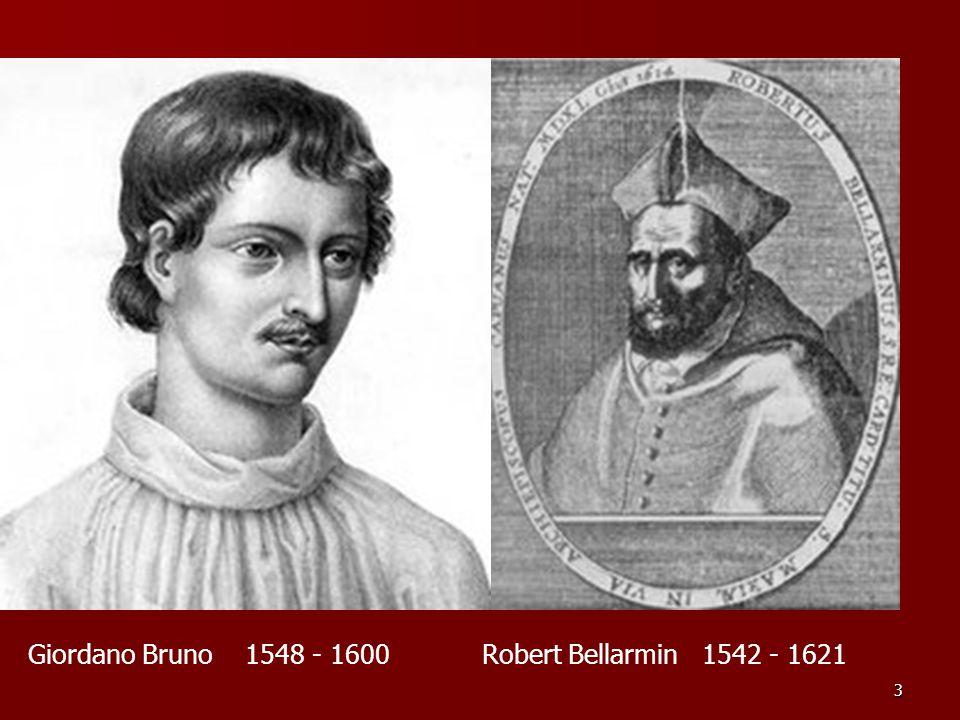 Giordano Bruno 1548 - 1600 Robert Bellarmin 1542 - 1621