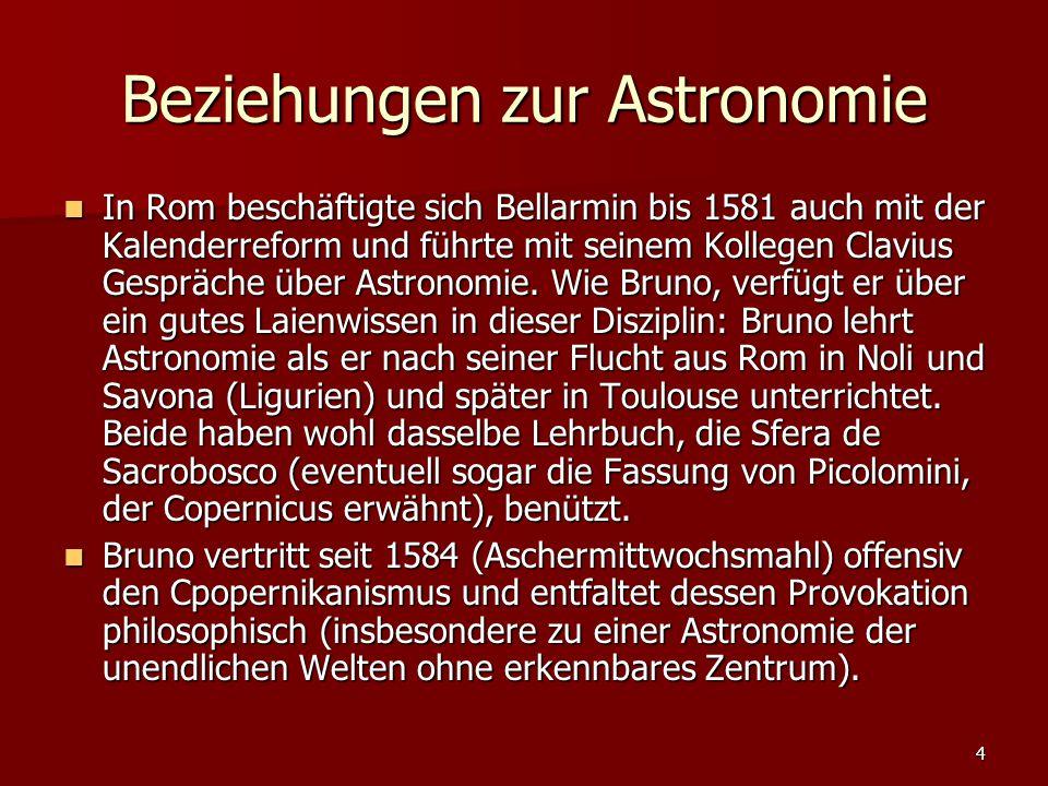 Beziehungen zur Astronomie