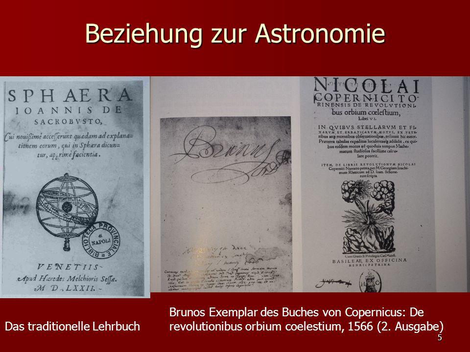 Beziehung zur Astronomie