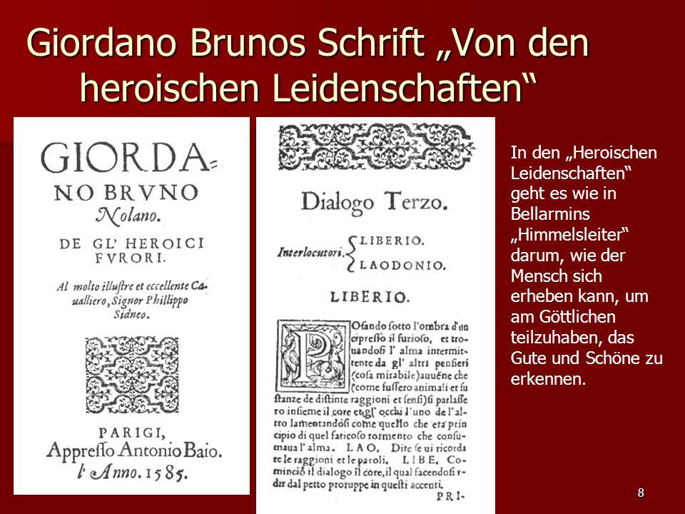 """Giordano Brunos Schrift """"Von den heroischen Leidenschaften"""